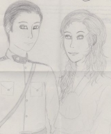 <h5>by Selena Echeverria</h5><p>Jack &amp; Elizabeth hand drawing</p>