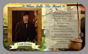 Caleb character card