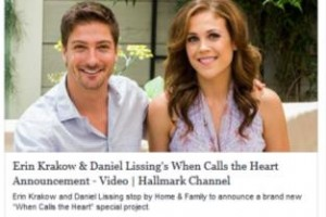 Erin krakow daniel lissing s when calls the heart announcement